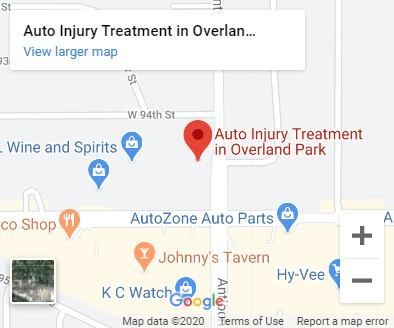 map of auto injury treatment of overland park